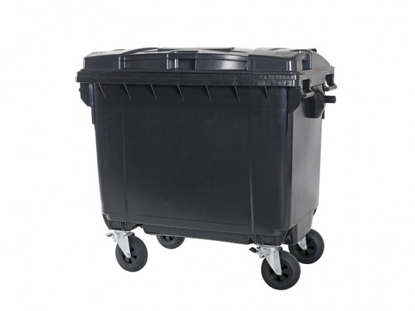 4-wiel afvalcontainer - 660 liter - grijs