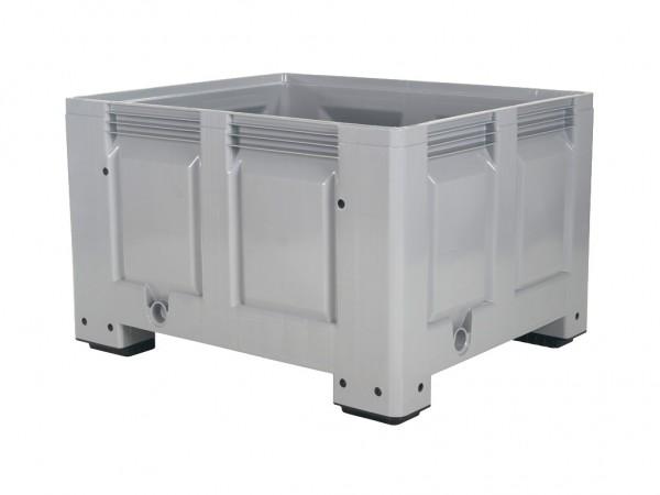 Kunststof palletbox - 1200x1000xH760mm - op 4 poten - grijs