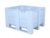 Kunststof palletbox - 1200x1000xH740mm - 3 sledes - lichtblauw 83281300